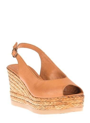 Ziya Hakiki Deri Sandalet Taba